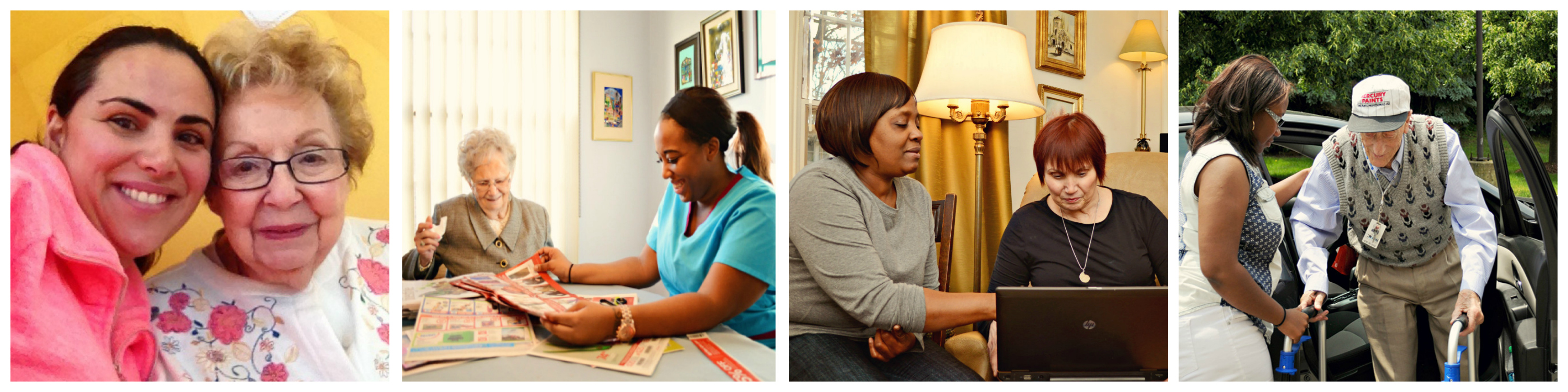 Marisa caregivers at work with clients