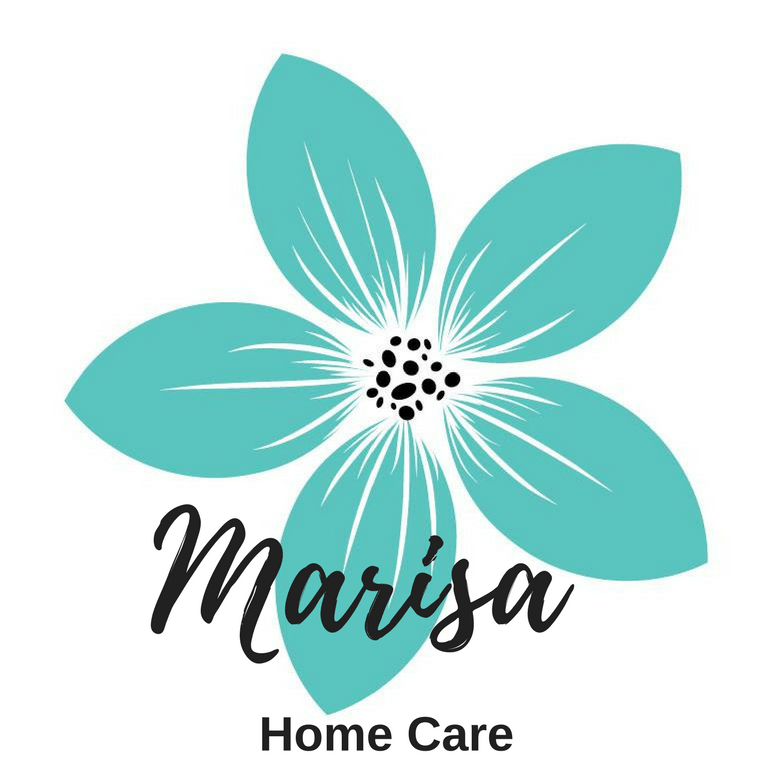 Marisa Home Care logo of Turquoise Flower with Company Name